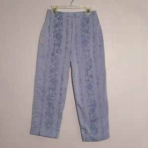 Pants - Vintage embroidered pants